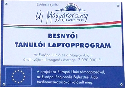 Tanulói laptop program Besnyőn
